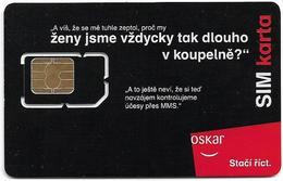 Czech Republic - Oskar - Koupelne #2 (White Chip Module Lines), GSM SIM2 Mini, Mint - República Checa