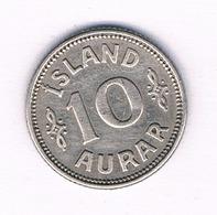 10 AURAR 1923 (mintage 302000ex) IJSLAND /1751/ - IJsland