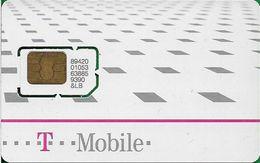 Czech Republic - T-Mobile - White With Gray Squares, GSM SIM2 Mini, Mint - República Checa