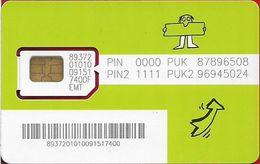 Estonia - EMT - Diil Pista GSM SIM2 Mini, Mint - Estonia