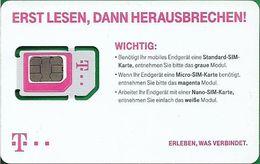 Germany - T-Mobile, GSM SIM6 Mini-Micro-Nano, Mint - Alemania