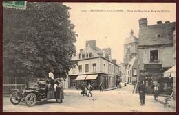 Antrain Place Du Marché Cp Animée * Ille Et Vilaine 35560 * Antrain-sur-Couesnon Canton D' Antrain  N° 1203 Automobile - Altri Comuni