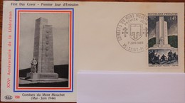 Enveloppe 1er Jour N°758 - Combats Du Mont Mouchet - 7 Juin 1969 - - 1960-1969