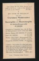 MEDEBROEDER V/D BOERENGILDE EN DE BLOEMISTENGILDE ST.CHRISTOFFELPAROCHIE EVERGEM  1954 - Décès