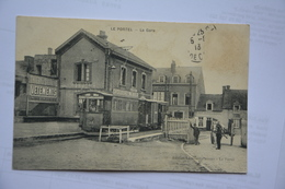 Le PORTEL-la Gare-tram Avec Pub Chocolat Menier-(MAUVAIS ETAT-decollement Cote Droit)vendue En L'etat - Le Portel