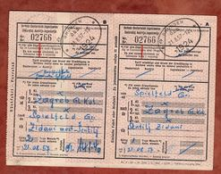Zugfahrkarte, Hin- Und Rueckfahrt Spielfeld Zagreb, Gmunden 1957 (91672) - Europa
