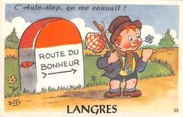 52 - CPA à, Système LANGRES Route Du Bonheur - Langres