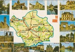 10 AUBE -  15 VUES SOUVENIR Et PLAN N° 989 -   Editeur COMBIER De Macon  N° O DP999.000.0110 - Frankreich