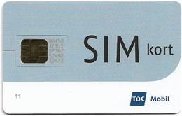 Denmark - TDC - Half Dark Gray, SIM Kort (Type #1), GSM SIM2 Mini, Used Fixed - Dinamarca