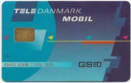 Denmark - Tele Danmark Mobil - Old GSM SIM FULL ISO (Type #5B No Barcode, Longer Cn.), Used - Dinamarca