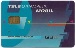 Denmark - Tele Danmark Mobil - Old GSM SIM FULL ISO (Type #5C No Barcode, Shorter Cn.), Used - Dinamarca