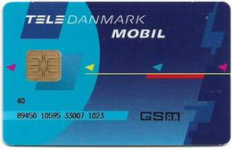 Denmark - Tele Danmark Mobil - Old GSM SIM FULL ISO (Type #6), Used - Dinamarca