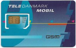 Denmark - Tele Danmark Mobil - Plain Blue (Type #1) GSM SIM2 Mini, Mint - Dinamarca