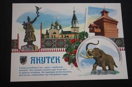 Modern  Postcard - Yakutsk City. Mammoth Monument - - ELEPHANT - RARE!!! - Elefanti