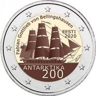 Estonia 2 Euro 2020 Commemorative Coin 200th Anniversary - Discovery Of The Antarctica UNC - Estland