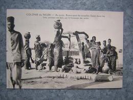 COLONIE DU NIGER - AU PUITS - REMARQUER LES ENTAILLES... - Niger