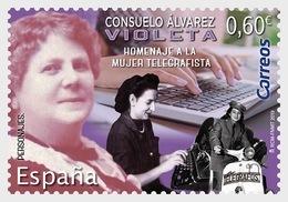 Spain 2019 - Consuelo Álvarez - Violeta - Tribute To Telegraphist Women - 2011-... Ungebraucht