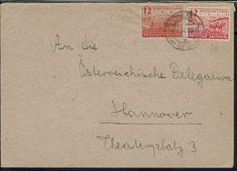 Allemagne - Affranchissement 12 + 12 Pf, Papiers Différents, Sur Enveloppe De Salzwedel Vers Hannover 19-3-1946 - B/TB - - Zone Soviétique