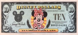 USA 10 Disney Dollars (1993) - Very Fine + Folder - USA