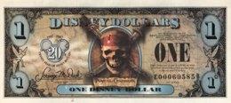 USA 1 Disney Dollar (2007) - Pirates Of The Caribbean - Black Pearl Ship - USA