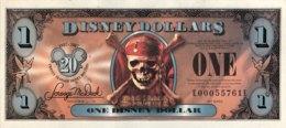 USA 1 Disney Dollar (2007) - Pirates Of The Caribbean - Empress Ship - USA