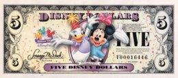 USA 5 Disney Dollars (2009) With Folder - UNC - USA