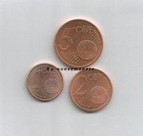 CIPRO 2010 Monete Da 1 - 2 - 5  Cent FDC Da Rotolino - Chipre