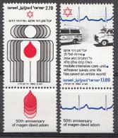 ISRAEL Mi.nr:819-820 Magen David Adom 1980  MNH / POSTFRIS / NEUF SANS CHARNIERE - Israel
