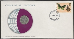 0129 - Numiscover / Enveloppe Numismatique - BELIZE - 25 Cents 1979 - Belize