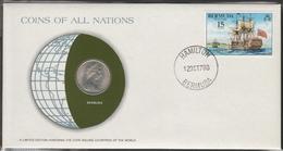 0130 - Numiscover / Enveloppe Numismatique - BERMUDES - 25 Cents 1973 - Bermudes