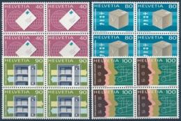 UPU 10-13 Viererblock Einwandfrei Postfrisch/** - MNH - Officials