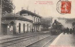 54  DIEULOUARD La Gare, Vue Intérieure, N° 629 Ed Henrion , Arrivée D'un Train - Dieulouard