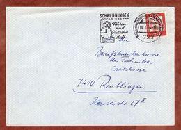 Brief, Bach, MS Uhren- Und Industriestadt Schwenningen, Nach Reutlingen 1964 (91705) - Lettres & Documents