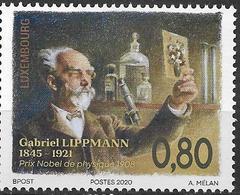 2020 Luxemburg Mi.   **MNH  Physiker Jonas Ferdinand Gabriel Lippmann - Nuevos