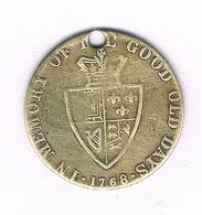 TOKEN   1768  GROOT BRITANNIE /1763// - Groot-Britannië