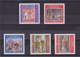 BULGARIE 1979 SAINT CLEMENT DE ROME FRESQUES Yvert 2524-2528 NEUF** MNH - Bulgarien