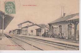CPA Livron - La Gare (avec Jolie Animation) - Frankreich