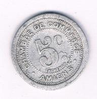 5 CENTIMES 1922 AMIENS  FRANKRIJK /1769/ - D. 10 Centimes