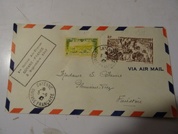 GUYANE POSTE AERIENNE 1947  I Liaison AIR FRANCE Pour Le FINISTERE - Guyane Française (1886-1949)