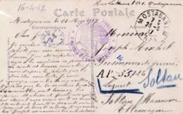 CP Soldat Militaire Belge Mostaganem Oran Algérie Colonie Vers Camp Soltau Cachet Censure - War 1914-18
