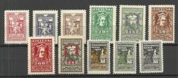 LITAUEN Lithuania 1920 Michel 76 - 86 * - Lithuania