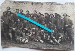 1918 Ailly Sur Somme 18 Eme Bataillon De Chasseurs à Pieds Friedensturm Tranchée Poilu 14 18 WW1 Carte Photo - War, Military
