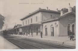 CPA Montélimar - Le Quai De La Gare (animation Avec Train En Petit Plan) - Montelimar