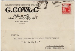 5890 MILANO COVA PANETTONI BISCOTTI CARAMELLE - 1946-.. République