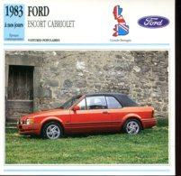 Grande Bretagne 1983 à Nos Jours : Ford Escort Cabriolet - Voitures