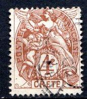 Ile De CRETE - (Bureau Français) - 1902-03 - N° 4  - 4 C. Brun - Kreta