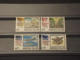 NORFOLK - 1976 U.S.A. 4 VALORI - NUOVI(++) - Isola Norfolk