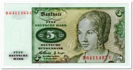 GERMANY,5 MARK,1960,P.18,AU-UNC - [ 6] 1949-1990 : GDR - German Dem. Rep.