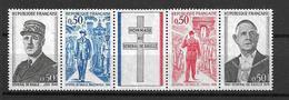 FRANCE 1971  Bande De 4 Valeurs N°  1698A NEUFS - Unused Stamps