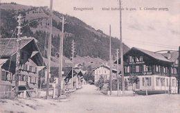 Rougemont VD, Hôtel Buffet De La Gare L. Chevalley Propriétaire, Passage à Niveau, Chemin De Fer (862983) - VD Vaud